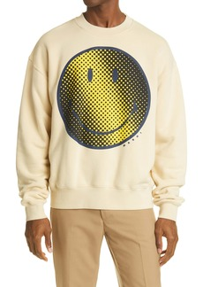 Marni Smiley Face Graphic Cotton Sweatshirt