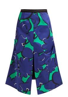 Marni Spangled-print A-line crepe skirt