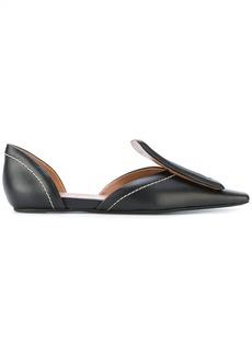 Marni square toe loafers - Black