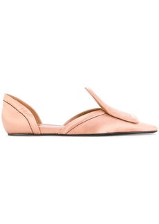 Marni square toed loafers - Nude & Neutrals