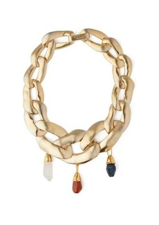 Marni Stone-embellished chain necklace