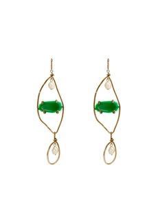 Marni Stone-embellished faux-pearl drop earrings
