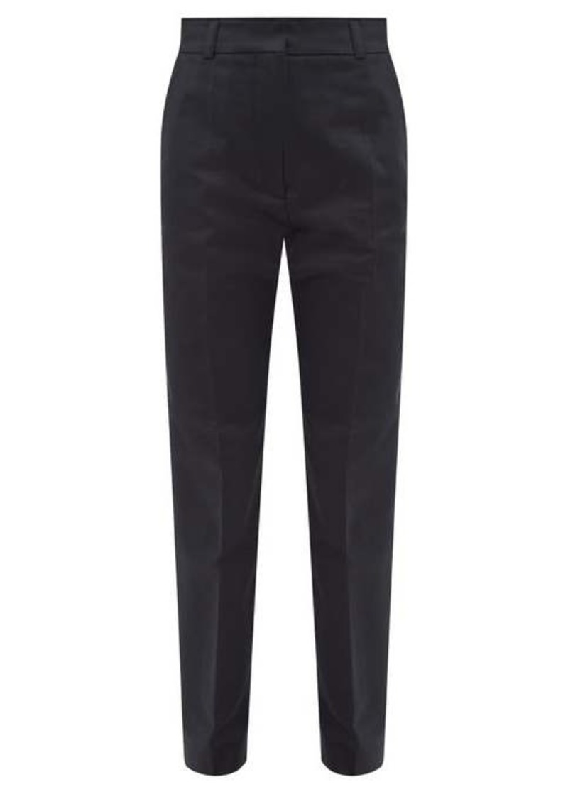 Marni Straight-leg cotton-sateen trousers