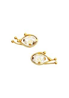 Marni Strass Clip-On Stud Earrings