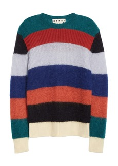 Marni Stripe Mohair Blend Sweater