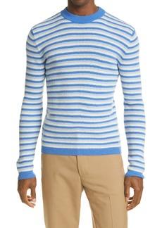 Marni Stripe Rib Wool Blend Sweater