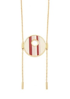 Marni Striped circle-pendant necklace