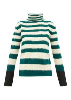 Marni Striped high-neck wool-blend sweater