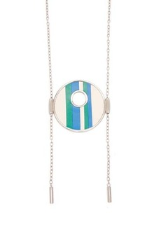 Marni Striped leather necklace