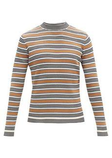 Marni Striped rib-knitted cotton-blend sweater