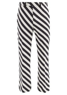 Marni Striped straight-leg technical trousers