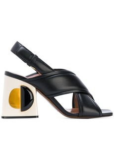 Marni structural block heeled sandals - Unavailable