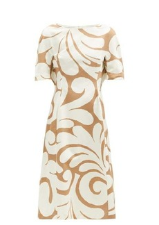 Marni Swirl-print cotton-blend canvas dress