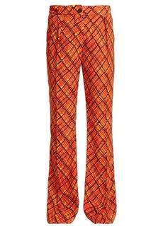 Marni Tartan-print flared trousers