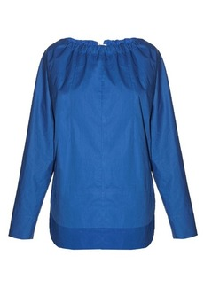 Marni Tie-back coated-poplin blouse