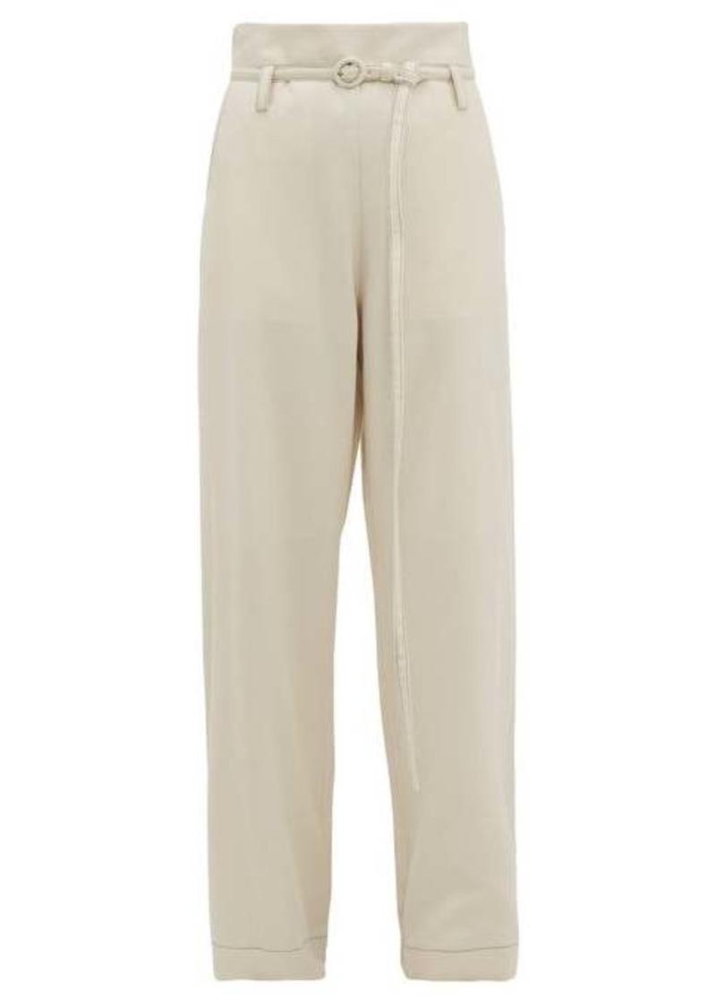 Marni Tie-waist flannel trousers