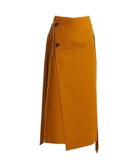 Marni Tie-waist wool wrap skirt