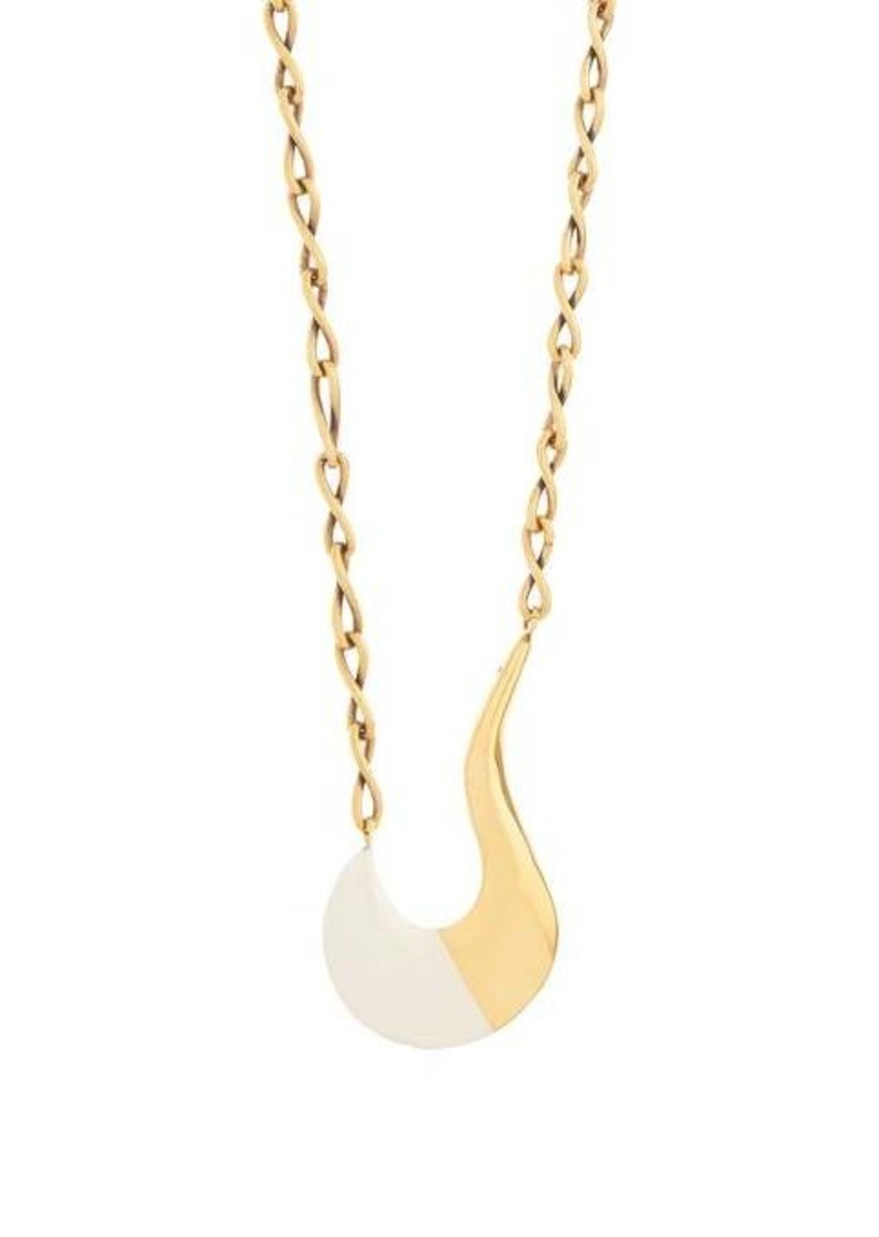 Marni Tipped-pendant chain necklace
