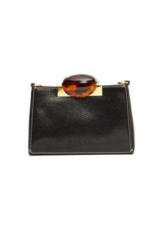 Marni Tortoiseshell-effect clasp leather shoulder bag