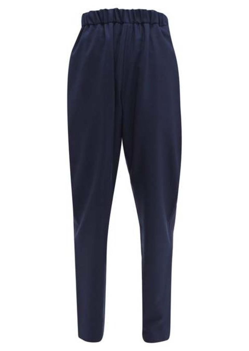 Marni Tropical high-rise relaxed wool trousers