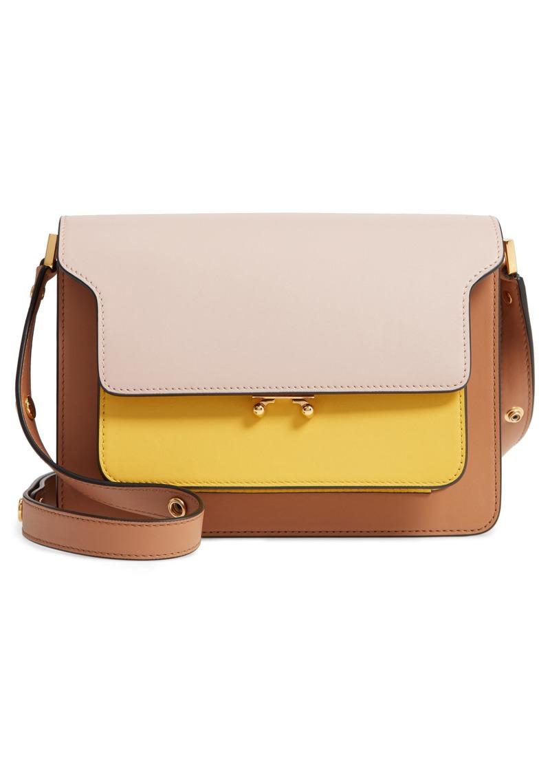 Marni Trunk Colorblock Leather Shoulder Bag