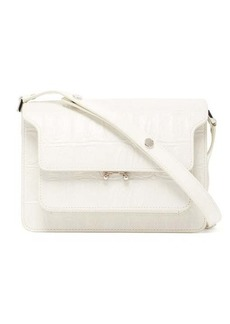 Marni Trunk medium crocodile-effect leather shoulder bag