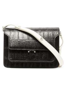 Marni Trunk medium crocodile-effect leather shoulder bag