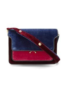 Marni Trunk medium velvet shoulder bag