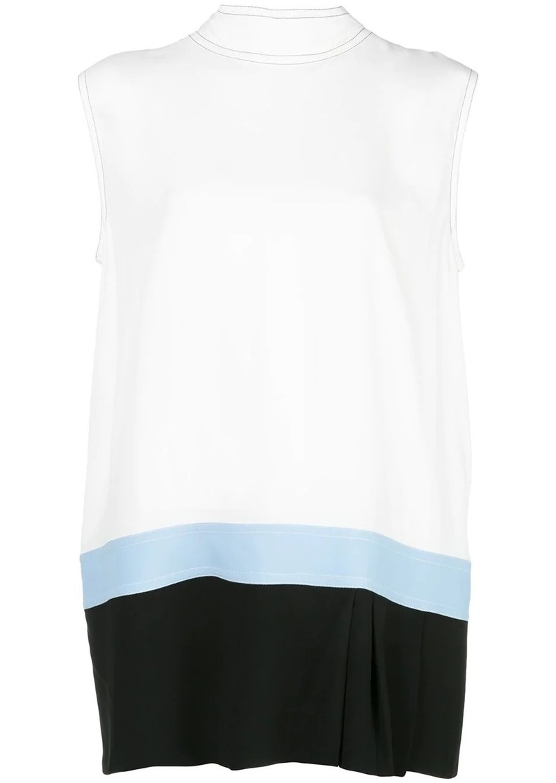 Marni colour block hem tank top