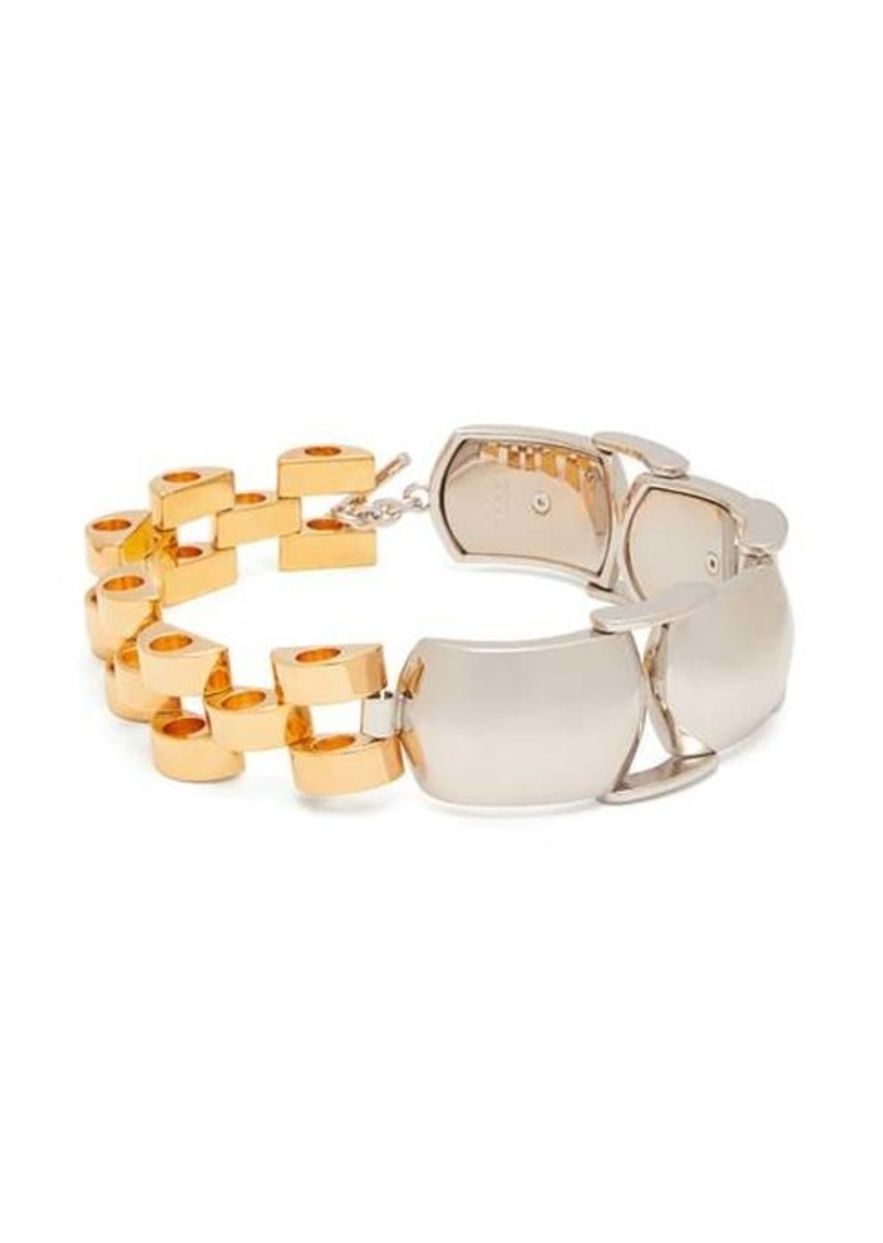 Marni Two-tone chain-link choker