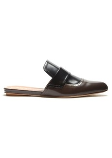 Marni Two-tone leather backless loafers