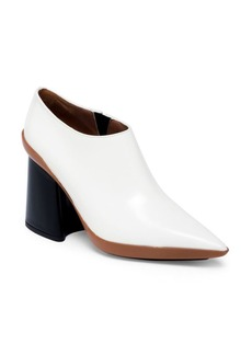Marni Two-Tone Leather Point Toe Block-Heel Booties