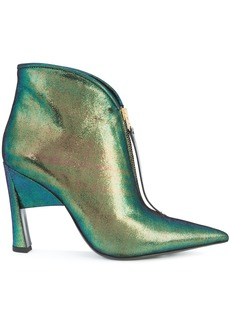Marni two tone sculptural booties - Green