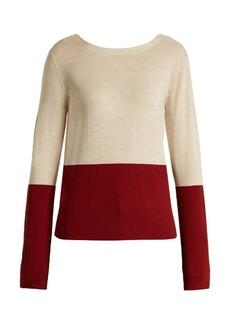 Marni V-back bi-colour wool sweater