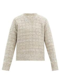 Marni V-neck garter-ribbed sweater