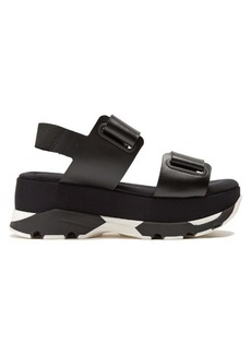 Marni Velcro-strap leather slingback platform sandals