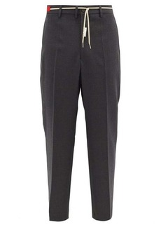 Marni Waist-tie high-rise wool trousers