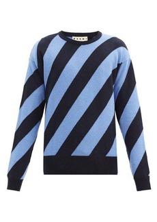 Marni Warning striped wool sweater