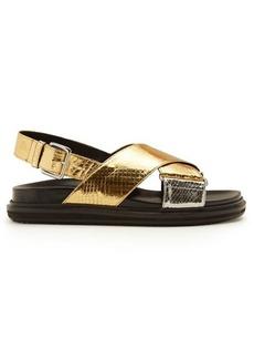 Marni Watersnake-effect sandals