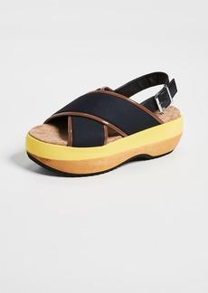 Marni Wedge Criss Cross Sandals