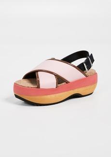 Marni Wedge Crisscross Sandals