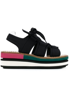 Marni wedge platform sandals - Black