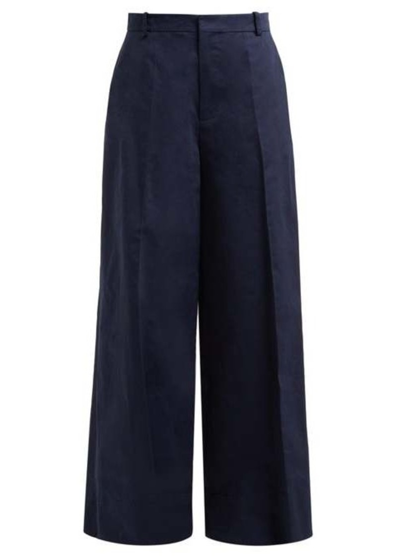 Marni Wide-leg cotton-blend trousers