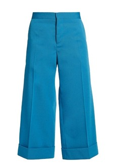 Marni Wide-leg cropped twill trousers