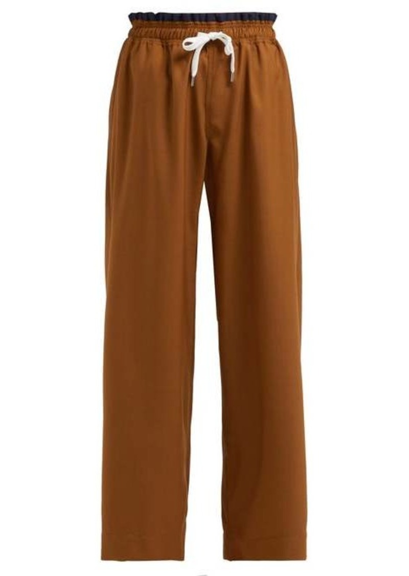 Marni Wide-leg wool trousers