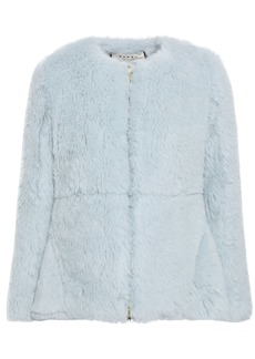 Marni Woman Alpaca Cotton And Mohair-blend Jacket Sky Blue