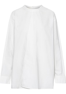 Marni Woman Asymmetric Cotton-poplin Blouse White