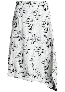 Marni Woman Asymmetric Jacquard Midi Skirt Off-white