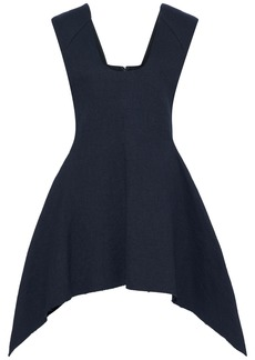 Marni Woman Flared Pleated Twill Tunic Midnight Blue