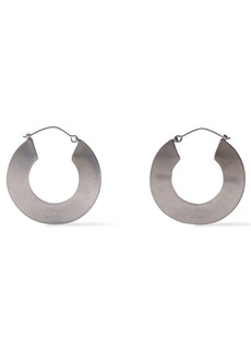Marni Woman Burnished Silver-tone Hoop Earrings Silver